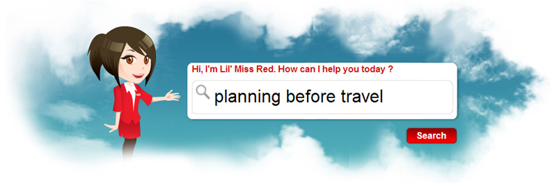 AirAsia FAQs on planning before travel