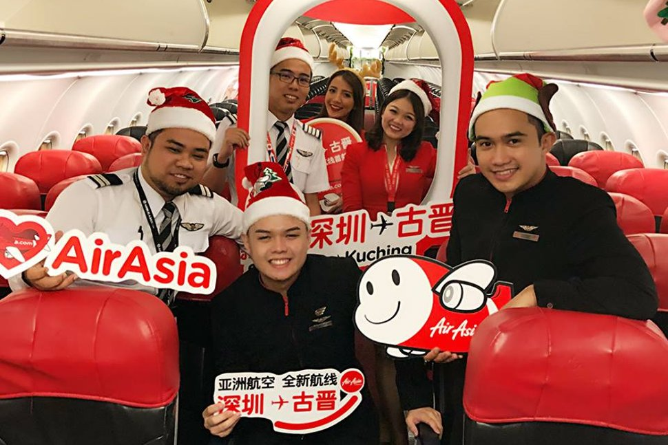 AirAsia's crew welcomes you onboard!