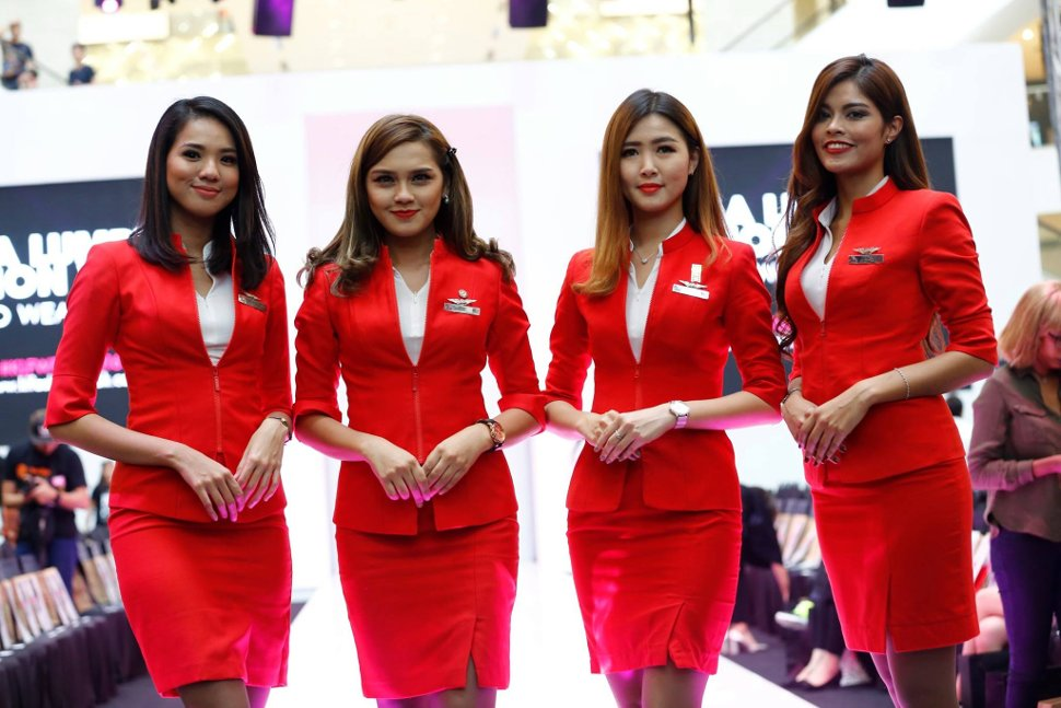Professional and friendly AirAsia's crew ready to service