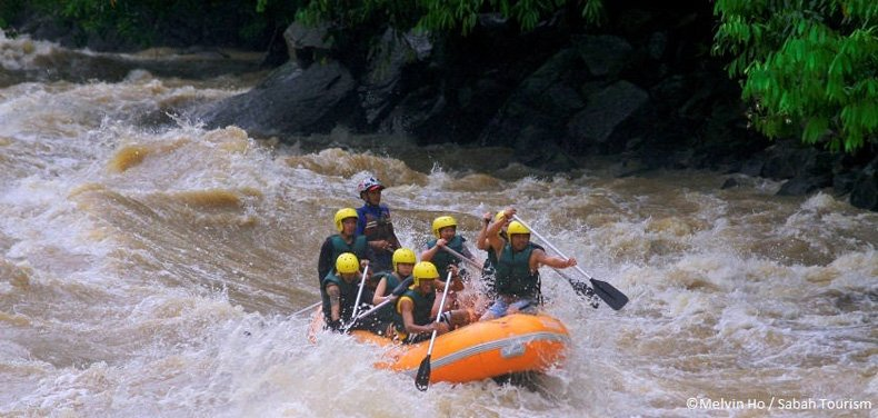 Whitewater rafting at Padas River, Kota Kinabalu