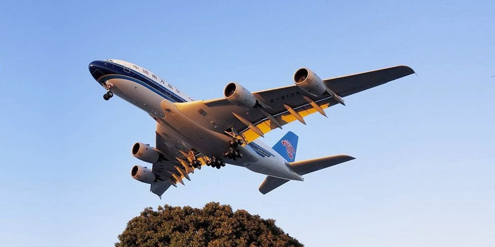 China Southern Airlines' flight on the sky
