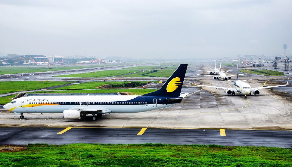 Jet Airways' flights lining up