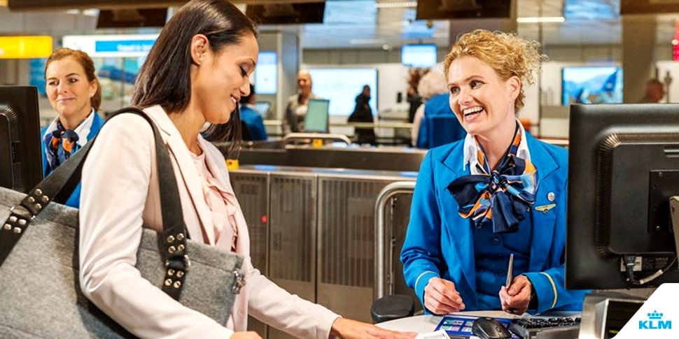 Friendly and helpful customer service at KLM Royal Dutch Airlines