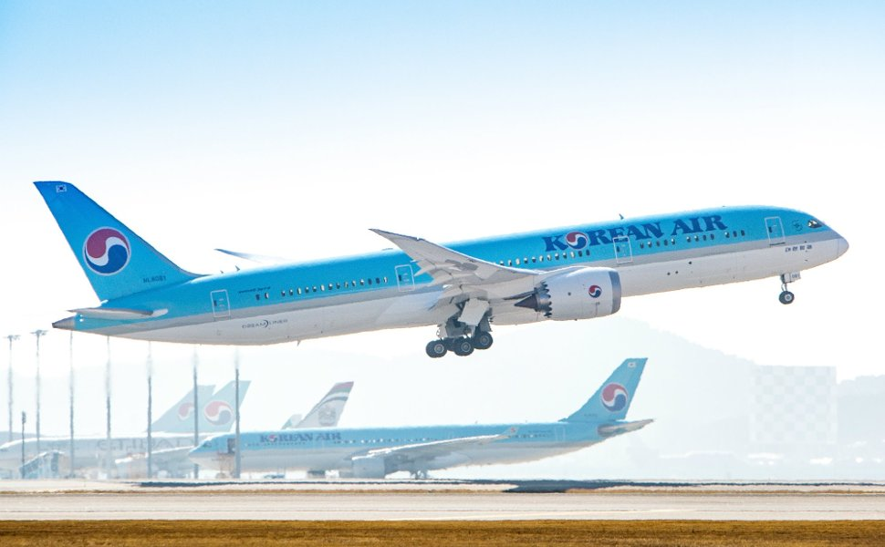Series of Korean Air's flights