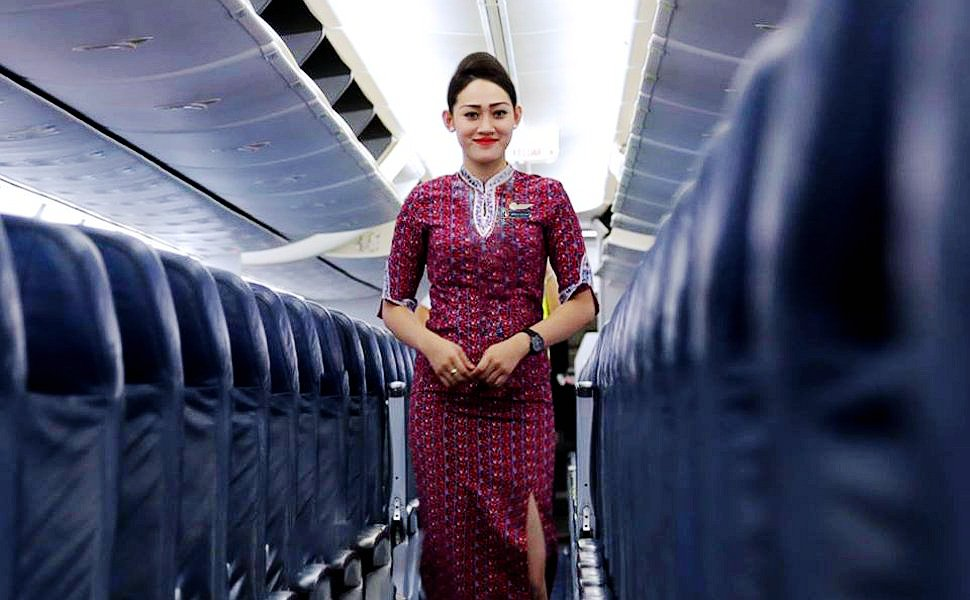 Friendly and helpful Lion Air flight attendant