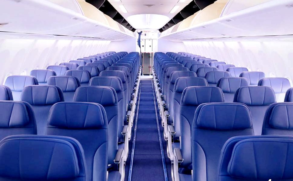 Comfortable and spacious in flight seating