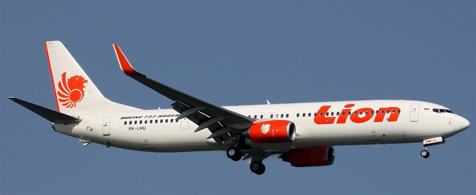 Lion Air flight on the sky