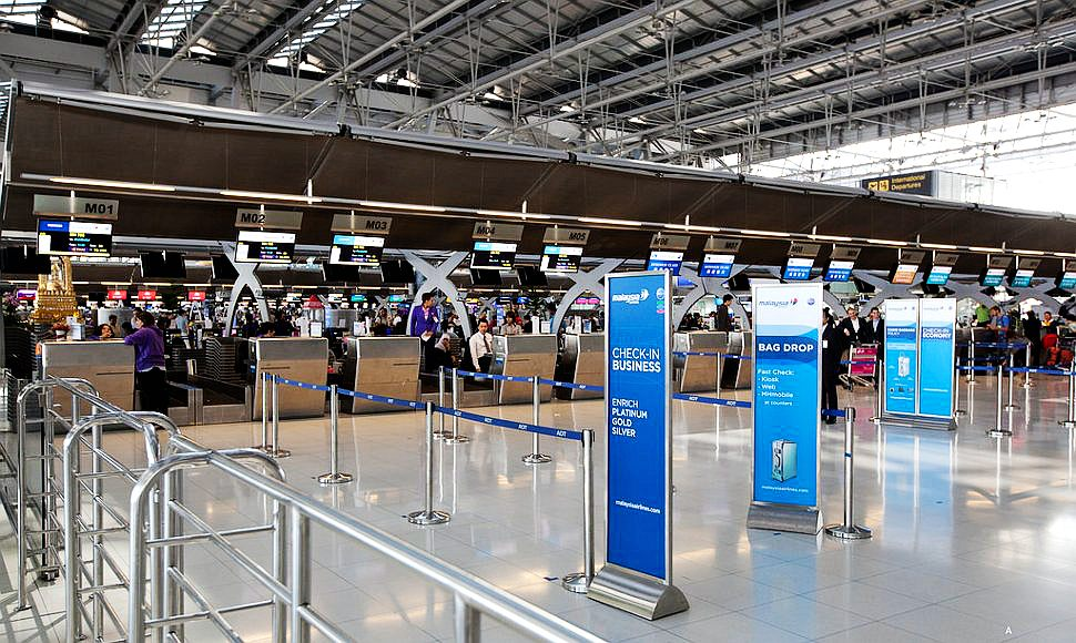 Malaysia Airlines' check-in counters at KLIA