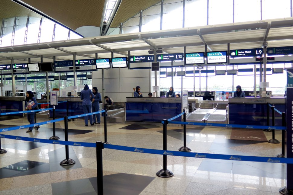 SilkAir's check in counters at KLIA