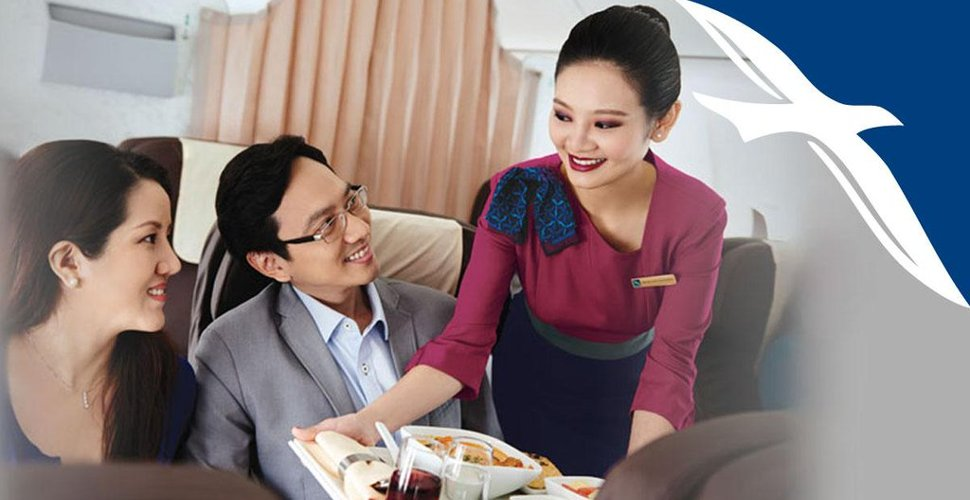 Friendly services onboard SilkAir flight