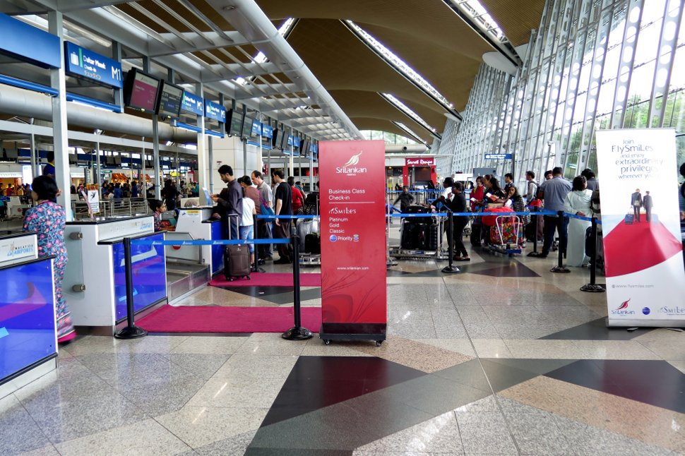 SriLankan Airlines' check-in counters at KLIA