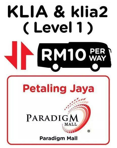 Aerobus bus schedule to Paradigm Mall, Petaling Jaya