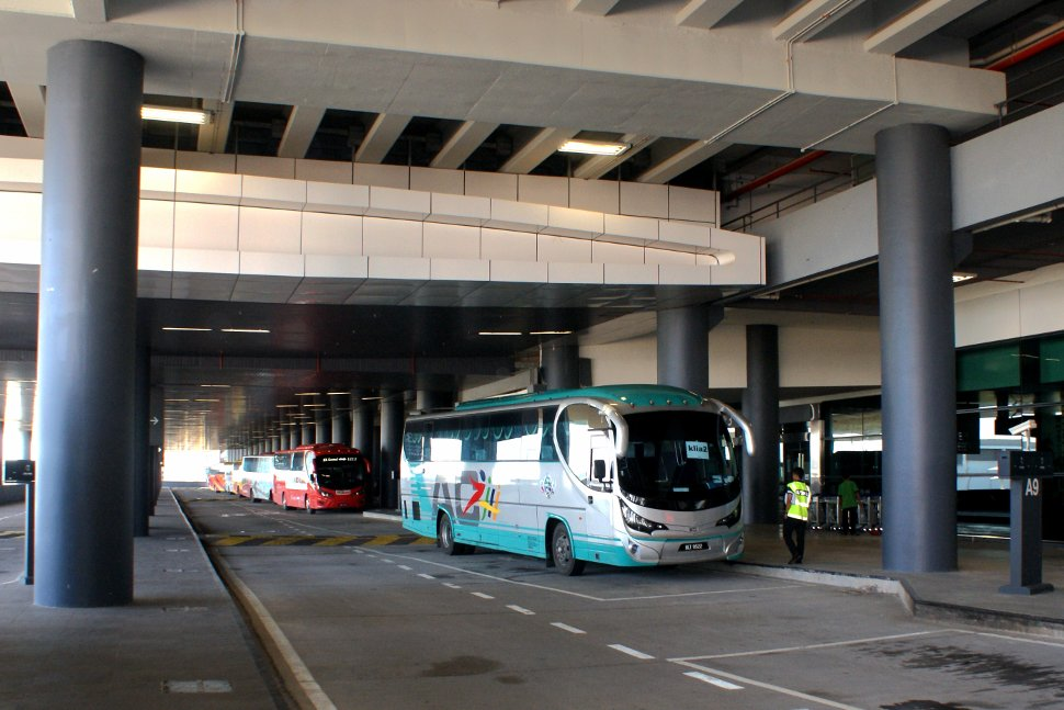 Airport coach at the klia2 transportation hub