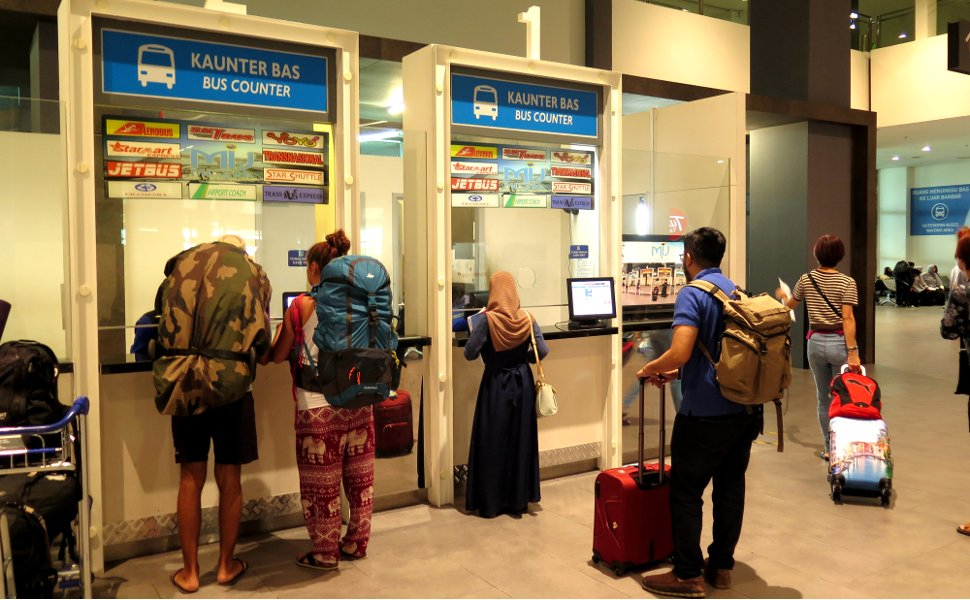 Bus ticket counters at klia2 Transportation Hub