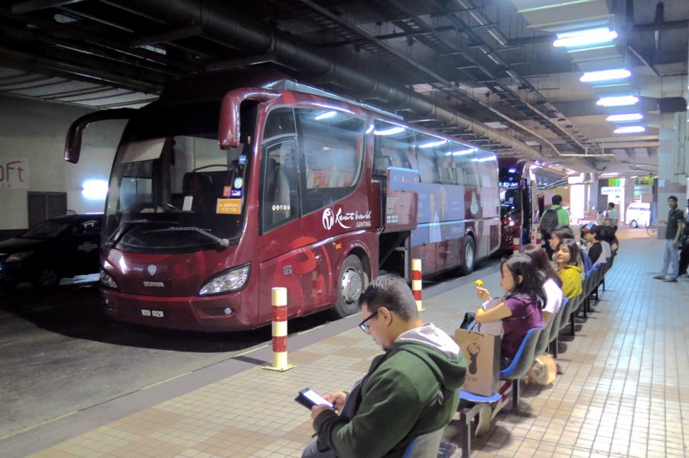 Genting Express buses waiting at KL Sentral