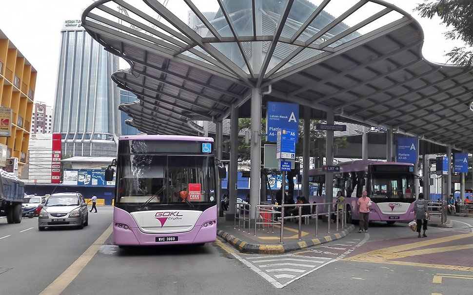 Go KL City Bus at station