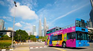 KL Hop-On Hop-Off Bus at KLCC area