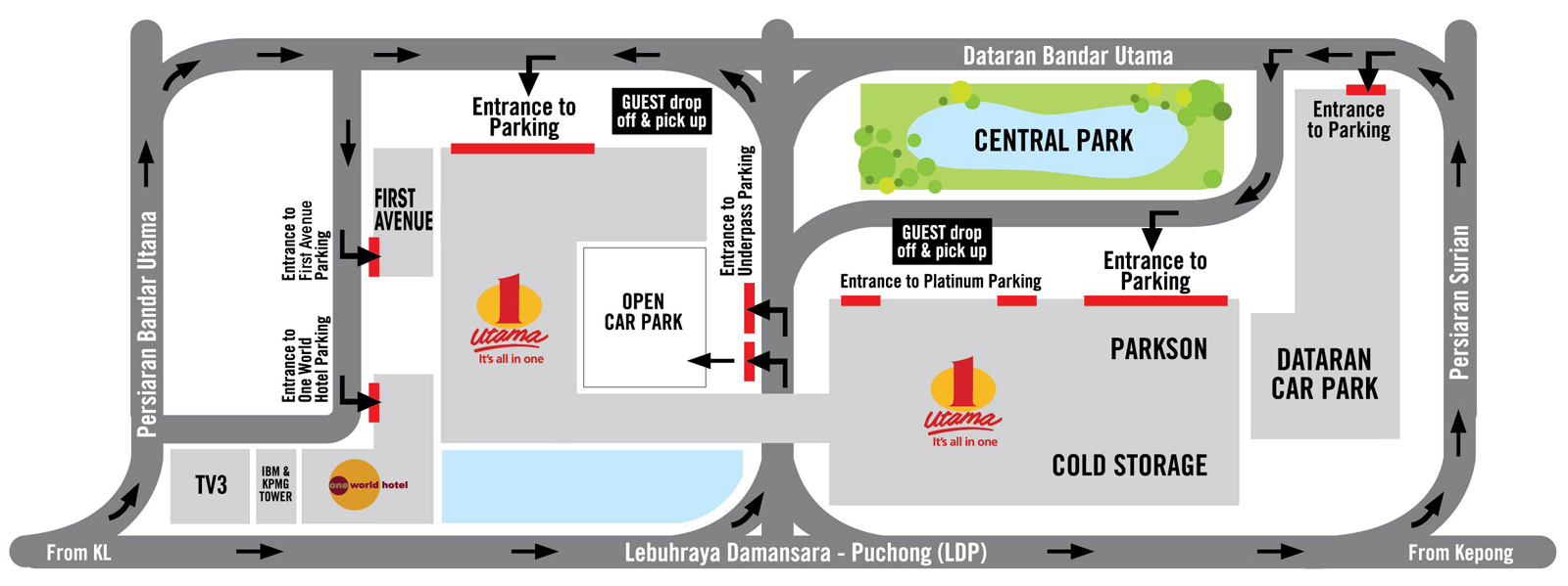Skybus, buses from klia2 to KL Sentral & One Utama shopping mall