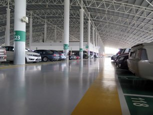 Parking facilities at the Terminal Bersepadu Selatan (TBS)
