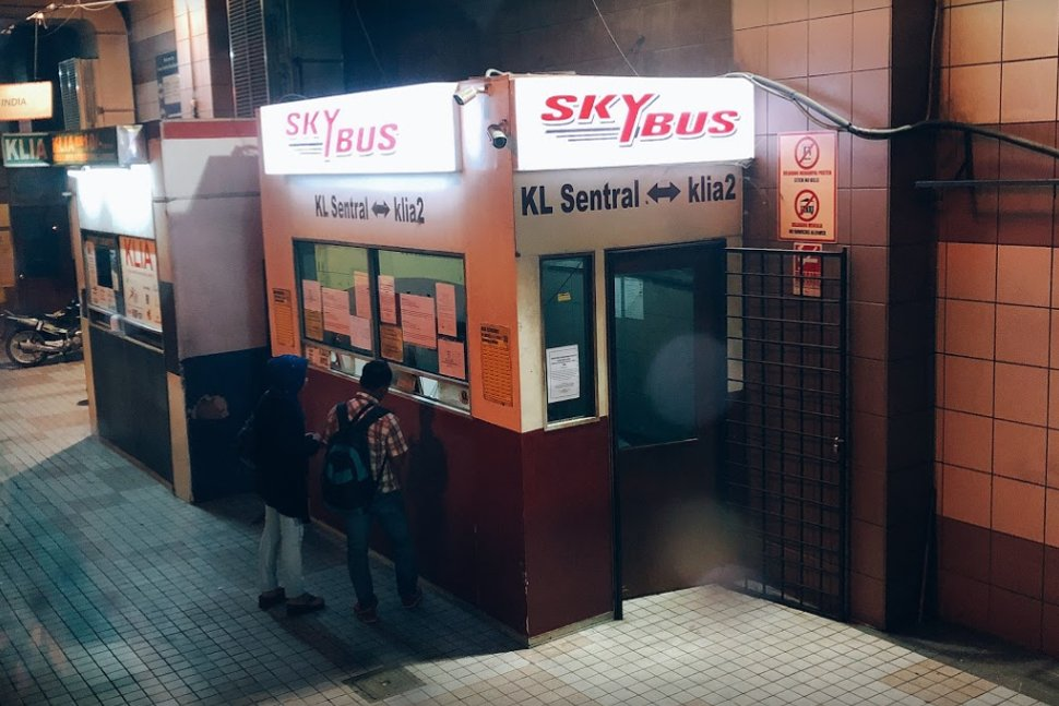 Skybus ticket office at KL Sentral