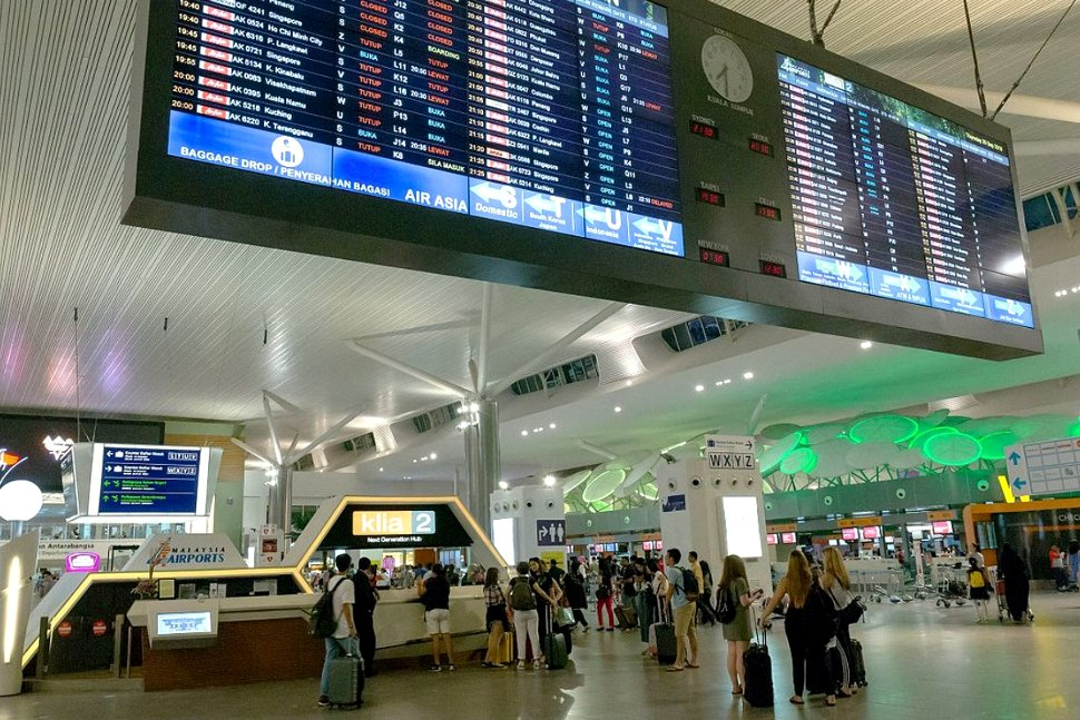 Departure hall at the klia2's main terminal building