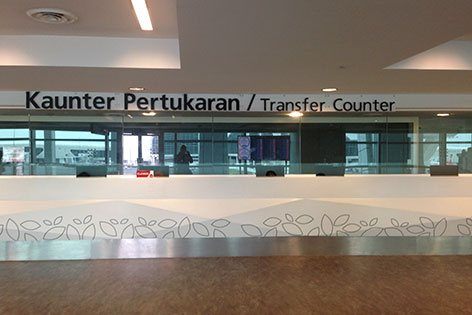 Counters at Transfer Hall
