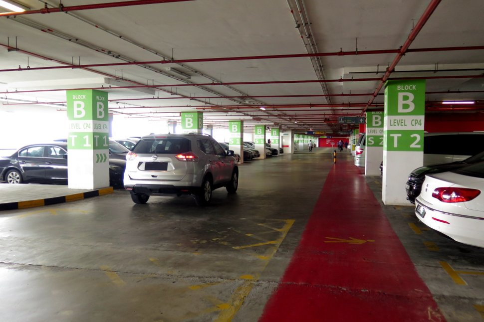 Parking bays at Block B