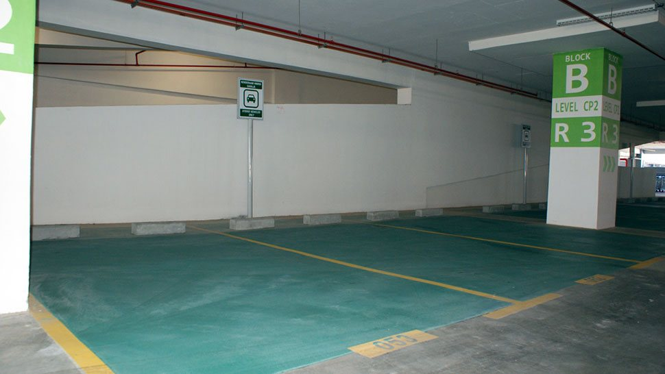 Hybrid car parking bays, Block B Parking