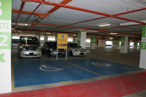 Disabled-friendly driver parking bays