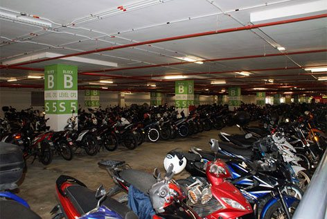 Motorcycle bays