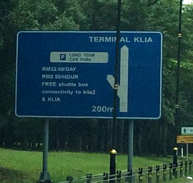 Signboard to Long Term Car Park