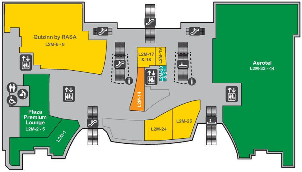 Layout plan, level 2M of Gateway@klia2 Mall