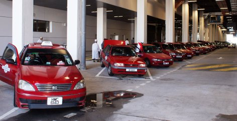 Taxis waiting at klia2 Transporation Hub