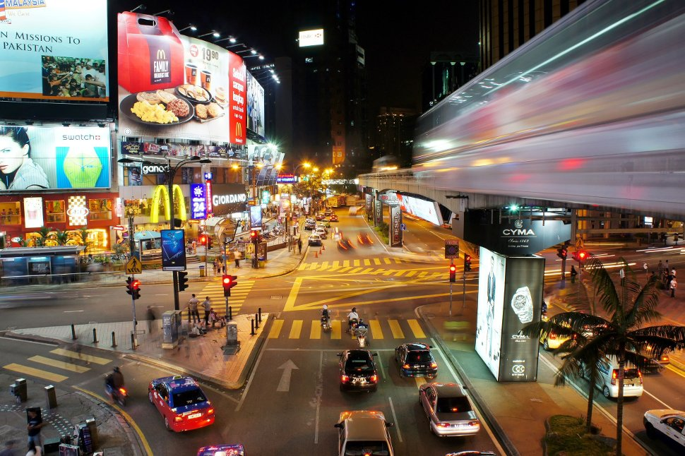 Bukit Bintnag, evening view near Bukit Bintang monorail station