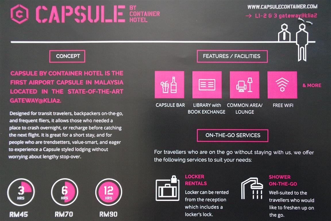 Capsule Container Hotel di KLIA 2 | Catatan Kembara Dunia