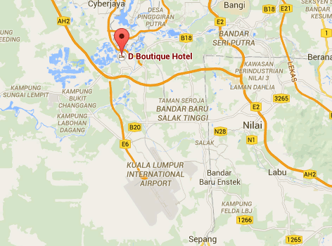 Map to D Boutique Hotel