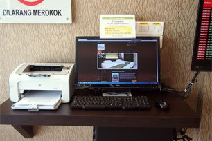 Printer for boarding pass, Sri Packers Hotel