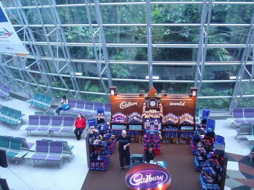 Cadbury's chocolate promtions at the Satellite building