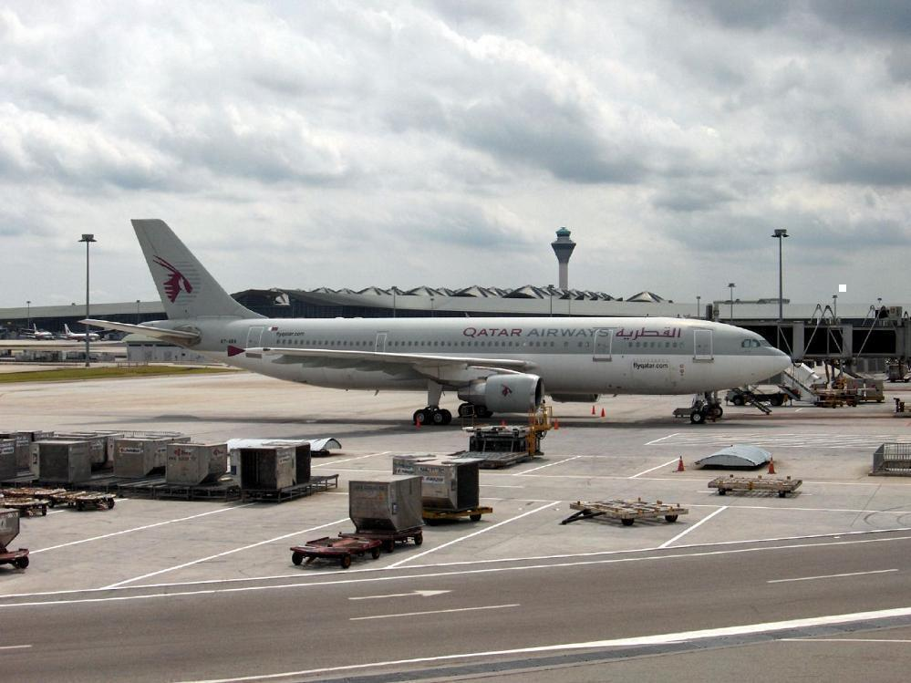 Qatar Airways flight at KLIA