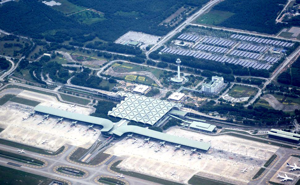 Aerial view of KLIA Main Terminal Buidling