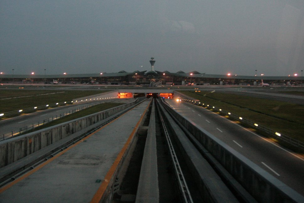 View of Main Terminal Building from the Aerotrain