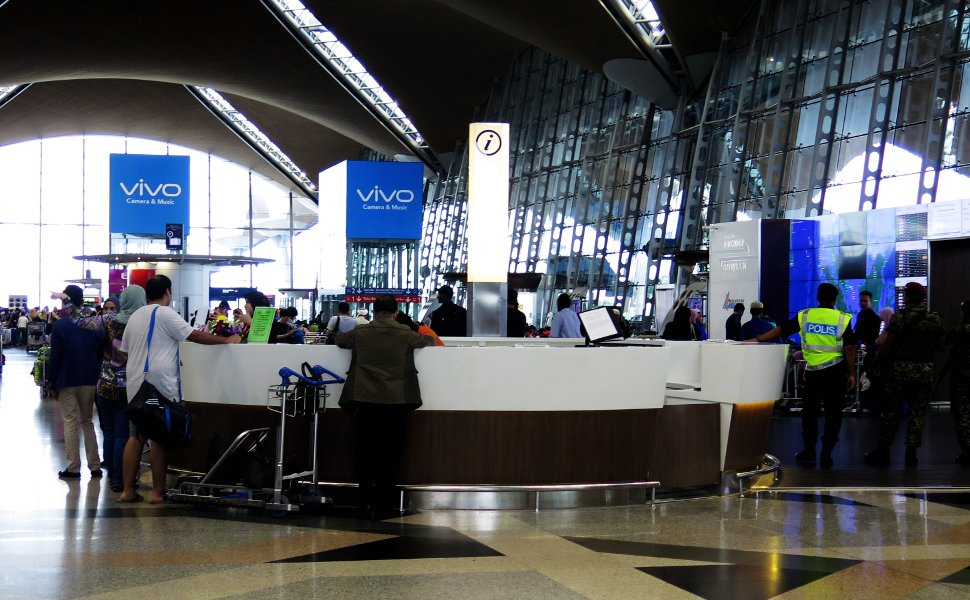Information counter at Level 5, Main Terminal Building