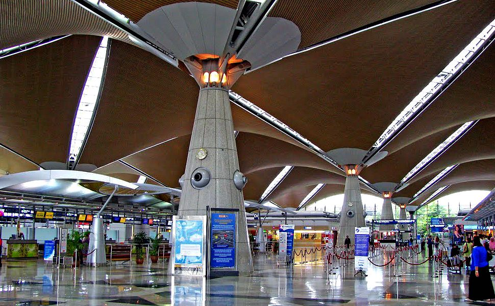 Check-in counters area at Level 5 of KLIA Main Terminal Building