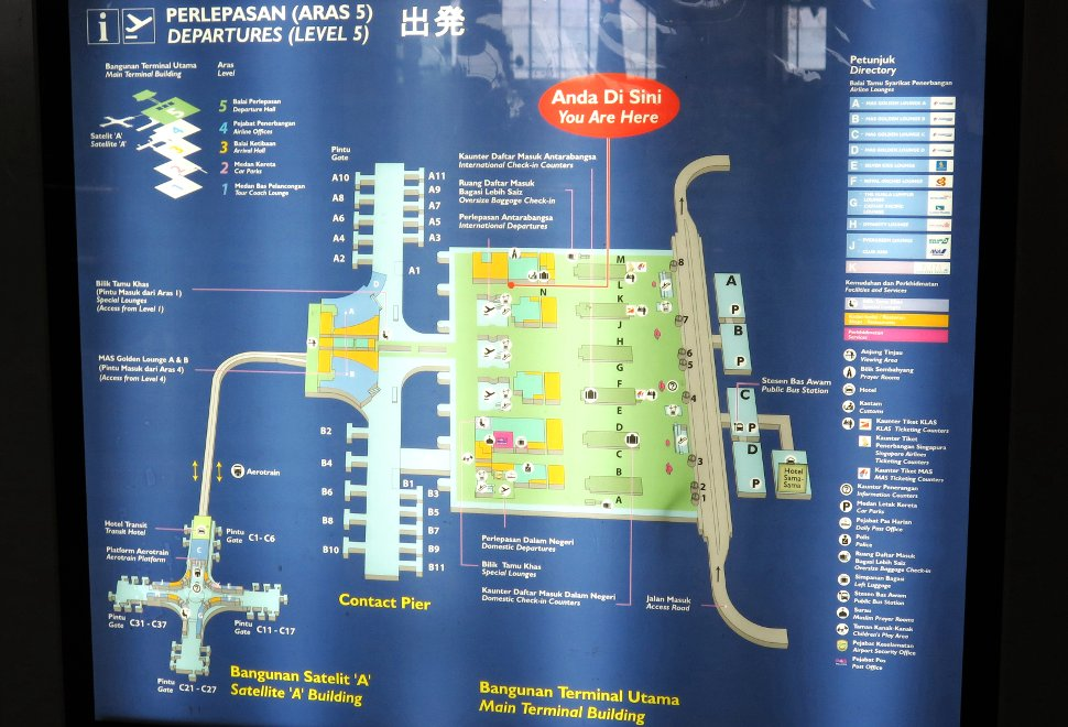 KLIA layout plan (Departure Level)