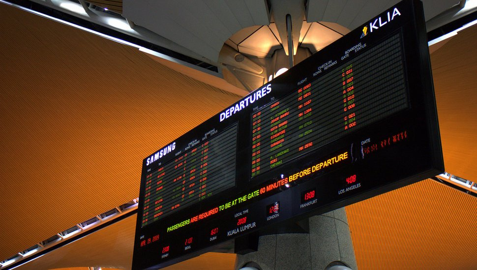 Flight Information Display Monitors at KLIA