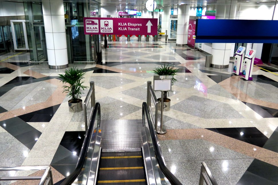 Escalator to go down to Level 1 for ERL train service