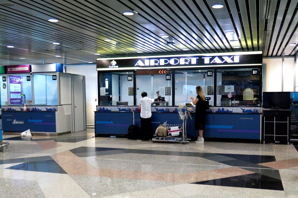 Ticketing counters for taxi and train services