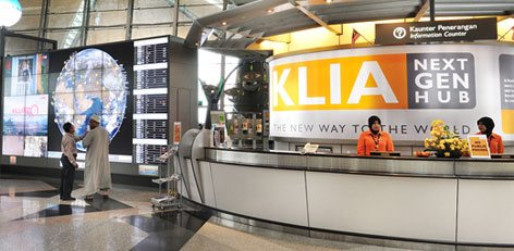 KLIA Information Counters