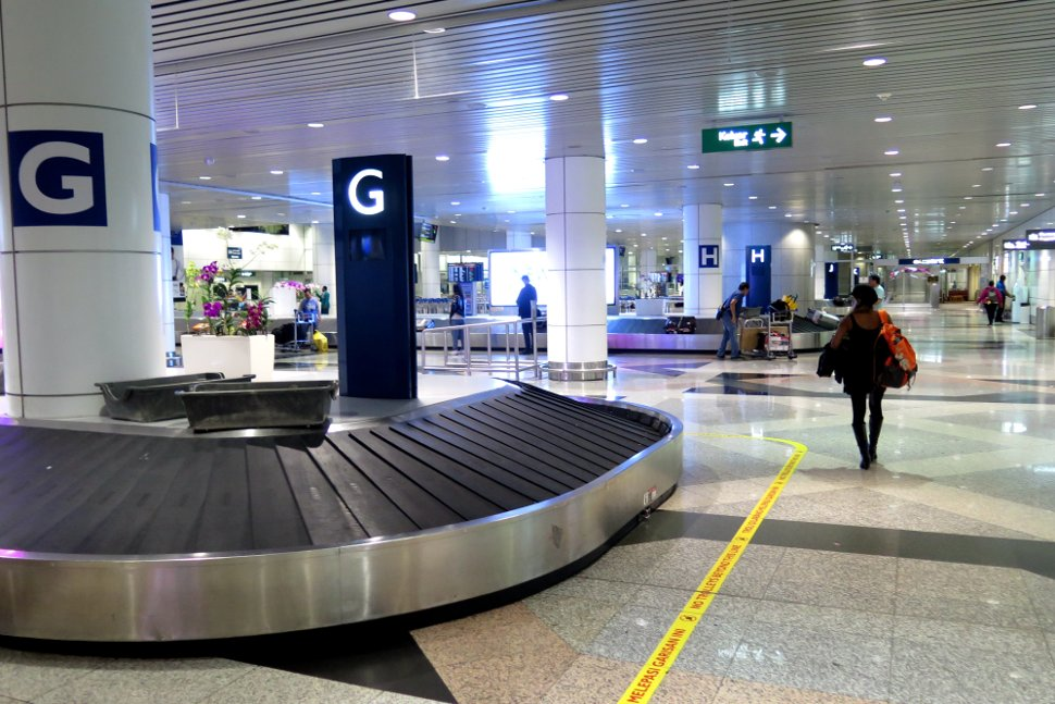 Baggage reclaim area at KLIA