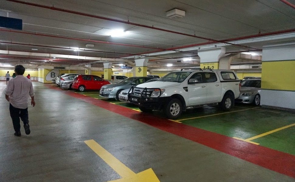 Parking bays at car park